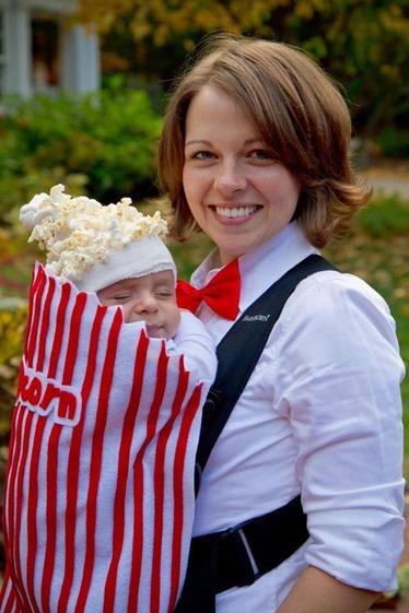 Mom and Popcorn Baby Costume
