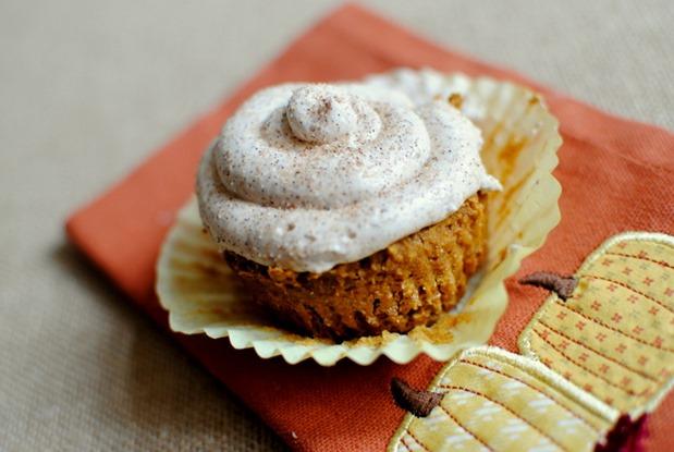 Pumpkin Spice Cake Mix Cupcakes