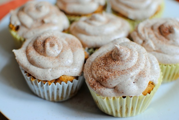 Pumpkin Spice Cake Mix Cupcakes with Cinnamon Buttercream
