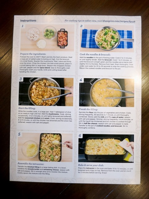 Blue Apron Recipe Steps