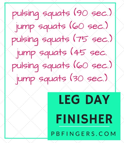 Leg Workout Finisher -- The final burn for your leg workout