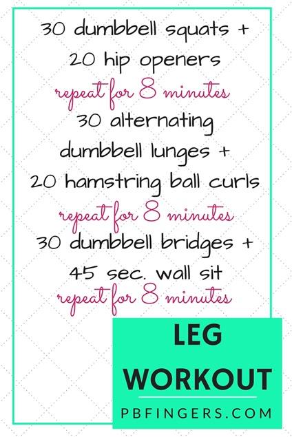 Leg Workout - Three 8-Minute Circuits