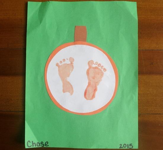 Pumpkin Feet Art Project