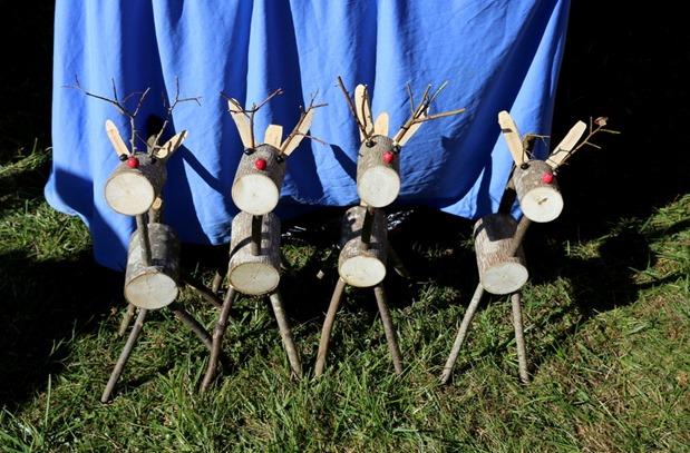 Wooden Reindeer decorations