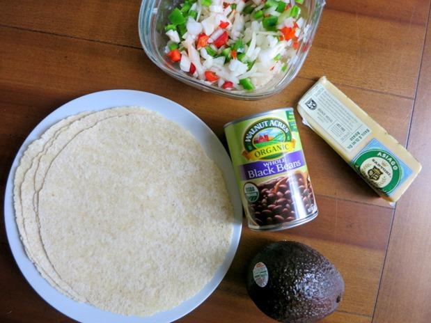 Black Bean Quesadilla Ingredients