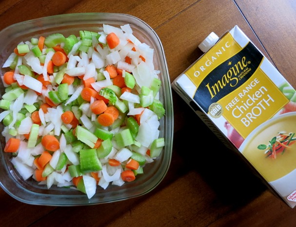 Vegetable Soup Food Prep