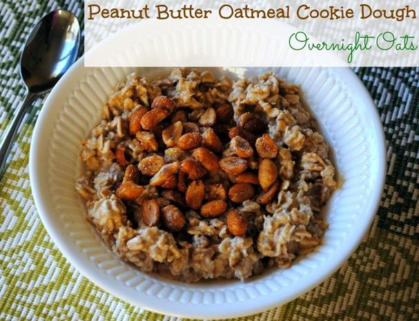 Peanut Butter Cookie Dough Overnight Oats