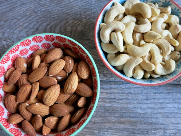 Raw Almonds Raw Cashews