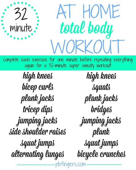32 Minute At Home Total Body Workout