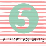 FIVE - A Random Blog Survey