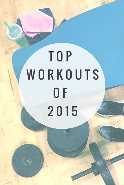 Top Workouts of 2015 - A collection of sweaty workouts! Everything from treadmill workouts to strength training and boot camp workouts!