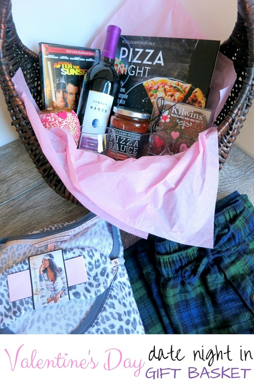 Date Night In Valentine S Day Gift Basket Peanut Butter Fingers