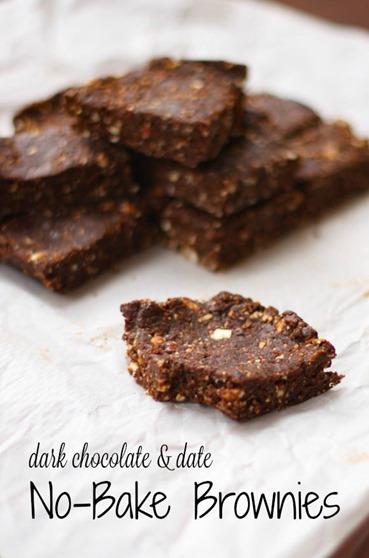 Dark Chocolate No Bake Brownies