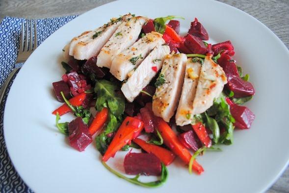 Pork and Beet Salad Blue Apron