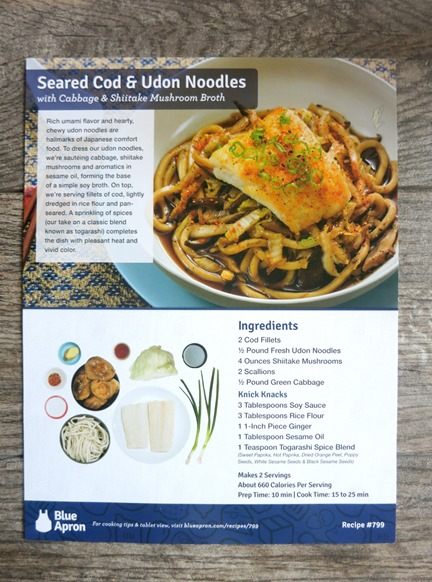 Seared Cod and Udon Noodles