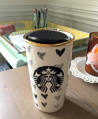 Starbucks Heart Tumbler