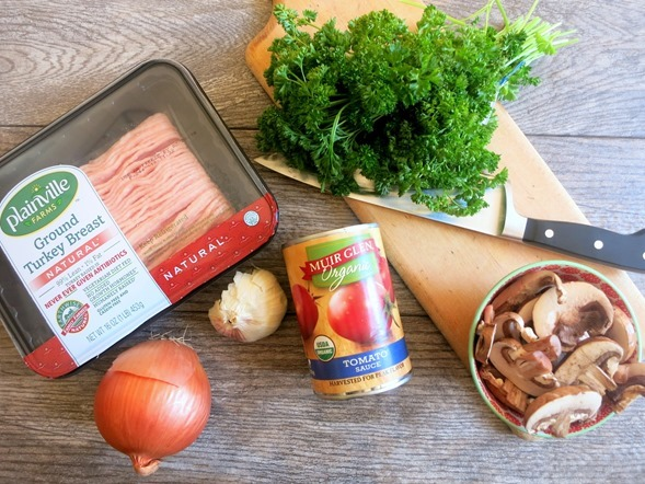 Turkey Mushroom Bolognese Sauce Ingredients