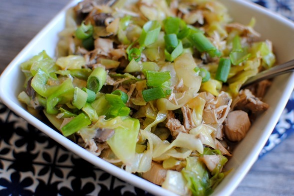 Chicken and Cabbage Hot Pot with Ginger Sesame Broth -- A delicious and easy weeknight dinner!