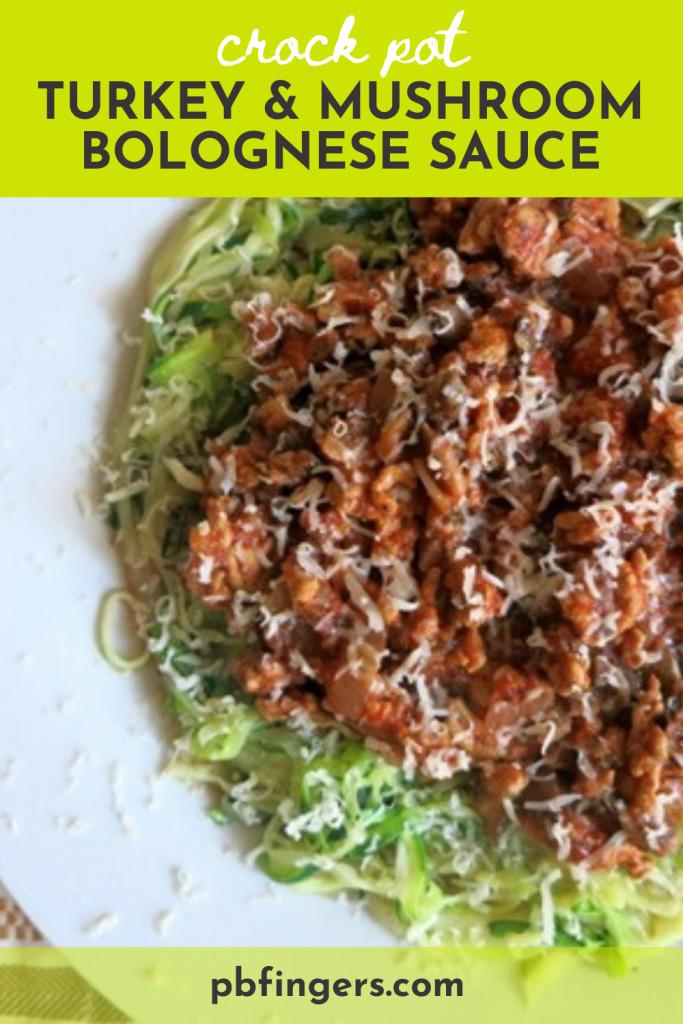 Crock Pot Turkey and Mushroom Bolognese Sauce