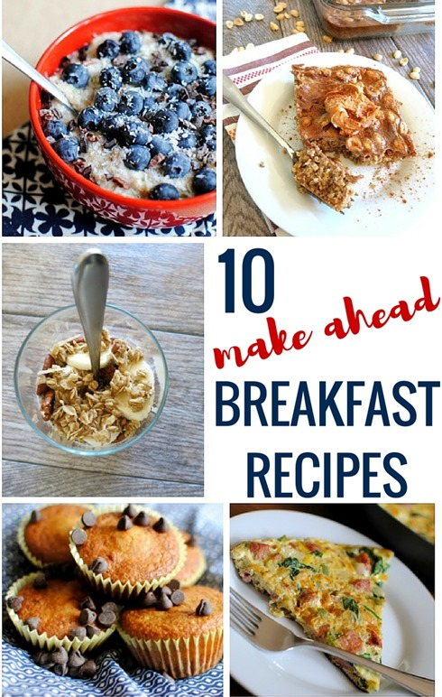 10 Make-Ahead Breakfast Recipes - Everything from frittatas and muffins to overnight oats and paleo breakfast ideas!