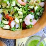 Chopped Salad with Shrimp and Avocado