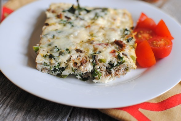 Easy Egg White Pizza Bake