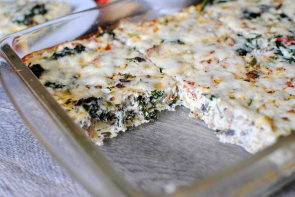 Pizza Egg White Bake