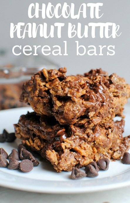 CHOCOLATE PEANUT BUTTER Cereal Bars