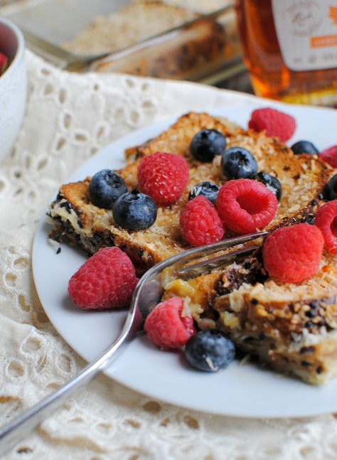 Coconut French Toast Casserole (Lightened Up!)