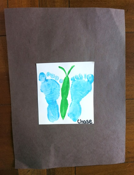 Footprint Butterfly Craft for Mother's Day
