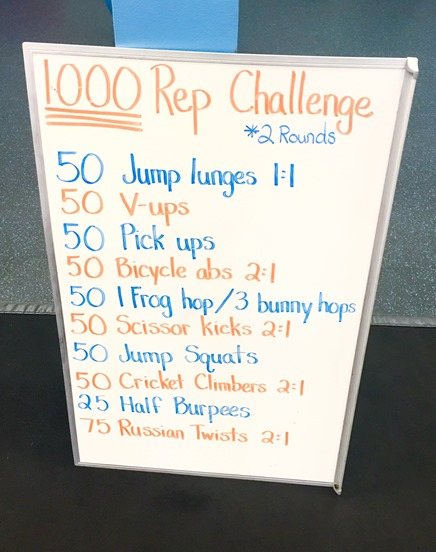 1000 Rep Workout (Plyo   Core Workout)