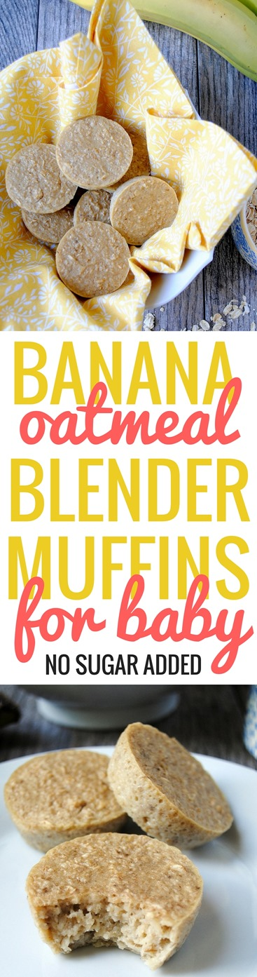 Banana Oatmeal Muffins for Baby