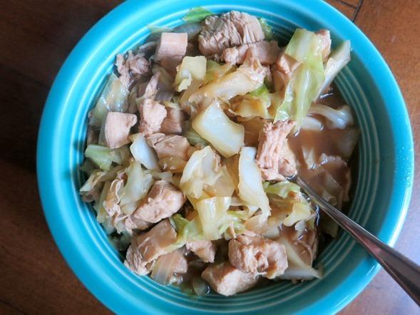 Cabbage Chicken Bowl