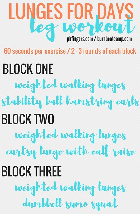 Lunges for Days LEG WORKOUT