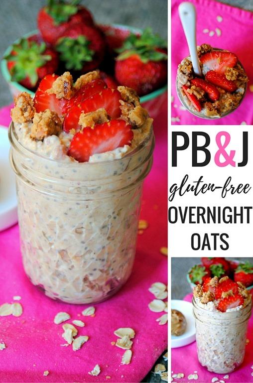 PB & J Overnight Oats (Gluten Free)