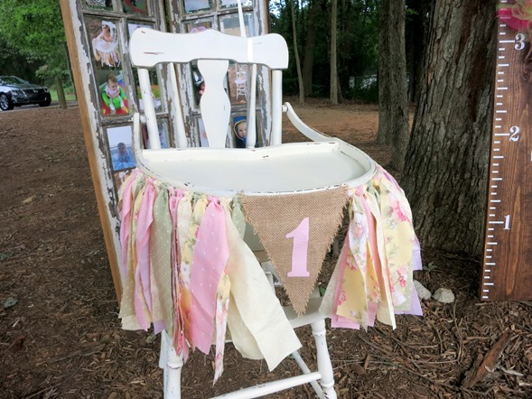 First Birthday Party Decorated High Chair