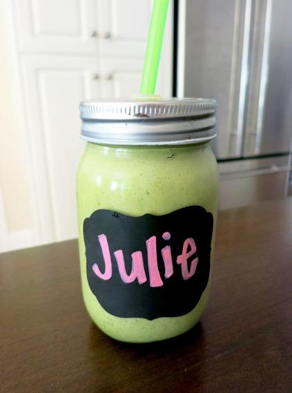 Green Smoothie in a Jar