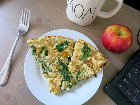 Frittata and Apple