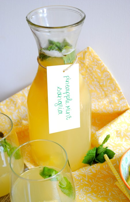 Mint Pineapple Sangria