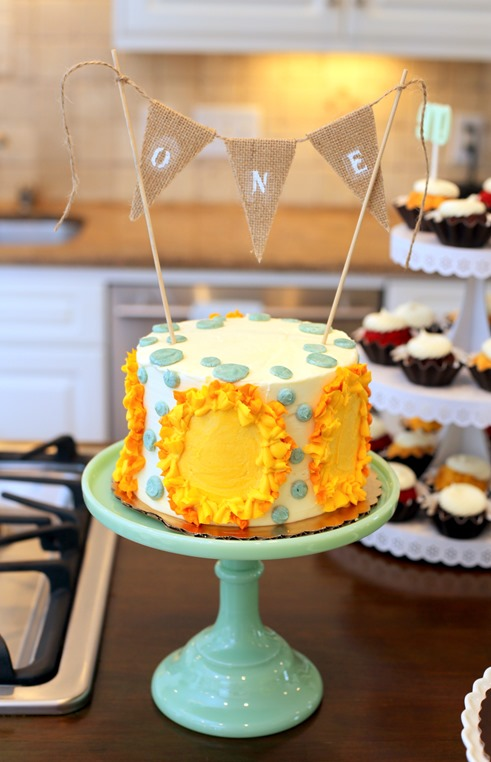 Sunshine Smash Cake