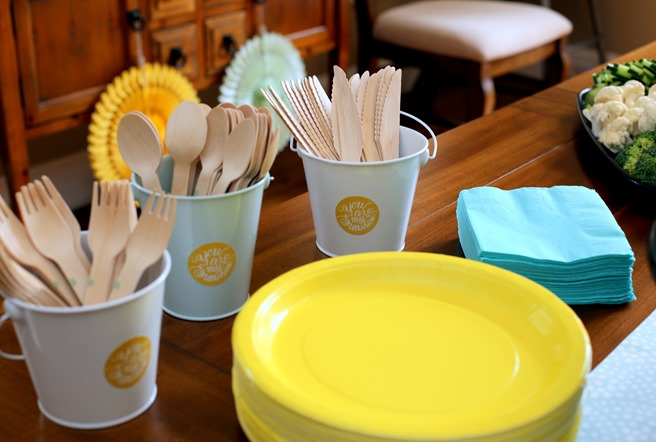 You Are My Sunshine Themed Party Plates and Utensils