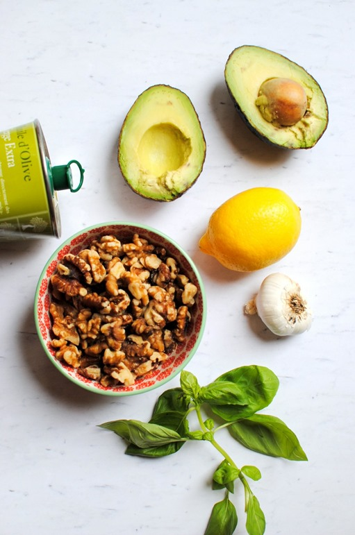 Avocado Pesto Ingredients