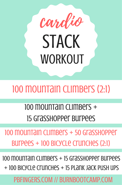 Cardio Stack Workout