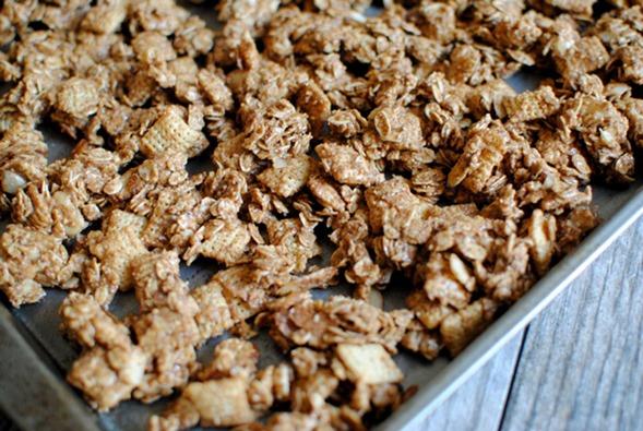 Almond Butter Chex Granola