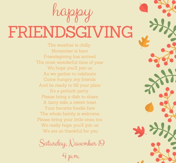 Friendsgiving Invitation