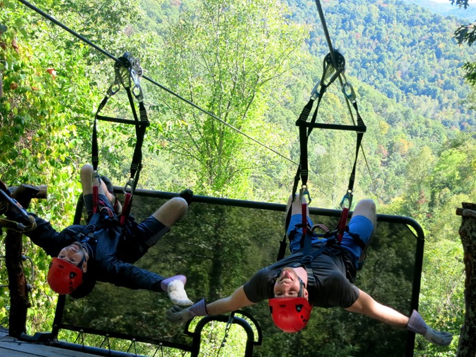 Racing Zip Lines Navitat Asheville