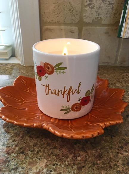 Thankful Candle