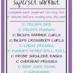 Killer Upper Body Superset Workout