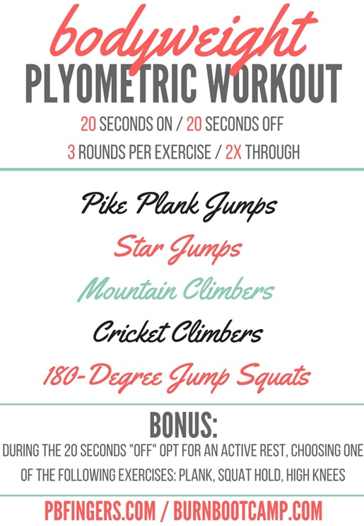 Bodyweight Plyometric Workout