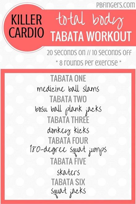 Cardio Tabata Workout